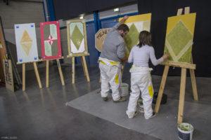 Peintures sur chevalets_Jeunes